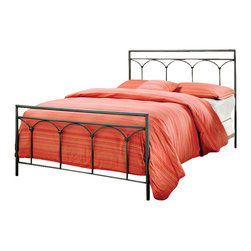 Hillsdale - Hillsdale McKenzie Metal Panel Bed Brown Steel Finish-Queen - Hillsdale - Beds - 1092BQR - Inspired by the domes of the Byzantium architecture the McKenzie brings to life the energy of soft arch. The gentle curves combined with the sharp angles of the contemporary design it is a striking contrast which creates a perfect harmony.