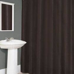 Home Decorators Collection - Fabric Shower Curtain Liner - This Fabric Shower Curtain Liner serves as an effective water barrier to protect a decorative shower curtain, but it can also be used as a curtain. Constructed of 100% polyester, the liner repels water and dries quickly between showers. The metal grommets in the upper hem protect the liner from tearing, while leaded beads in the bottom hem allow for a uniform vertical drape. Water repellent. Machine washable 100% polyester.