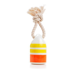 waggo - Floats My Boat Buoy Dog Toy, Yellow - Bring a little nautical fun into your pup's life! Our Floats my Boat Buoy Toy is a fun way to play with your furry first mate. Made of durable, non-toxic rubber, this toy floats in water for fun in the ocean, lake or pool. Available in bright colors, there is sure of be a buoy that strikes the fancy of any salty paw!