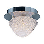 "ET2 - ET2 Blossom 5 1/2"" Wide Crystal Flushmount Ceiling Light - Tiers of gleaming clear crystal form the petals of this fantastic flushmount ceiling light. These intricate shapes create a glistening shade that surrounds a warm Xenon bulb. Polished chrome finish canopy and hardware adds an additional level of shine to this wonderful contemporary design from ET2. Metal canopy. Polished chrome finish. Crystal shade. Includes one 40 watt G9 Xenon bulb. 5 1/2"" wide. 4 1/2"" high. Color temperature of bulb is 2900K.  Metal canopy.   Polished chrome finish.    Crystal shade.   Includes one 40 watt G9 Xenon bulb.   5 1/2"" wide.   4 1/2"" high.   Color temperature of bulb is 2900K."