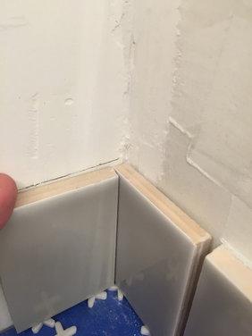 Subway Tile Backsplash - Inside Corners