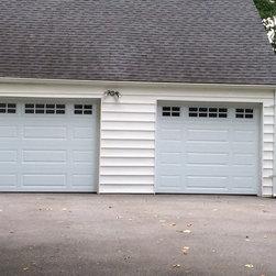 "Recent Installations - Garaga Acadia 138 8'0""x7'0"", Mix Panel Design."
