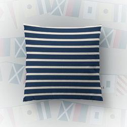 Navy Stripe Nautical Accent -