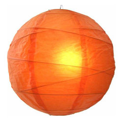 Oriental-Décor - Tangy Orange Globe Lantern - For a colorful, ethereal glow, all you need is one of these lovely paper spheres. With this luminous lantern in your home, you'll feel calm every time you walk in the door.