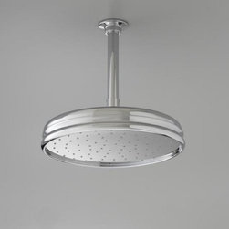 "Kohler - Kohler K-13694-CP Polished Chrome Rainhead Rainhead 12"" Traditional - Traditional 12"" round rain showerhead The new KOHLER Rainhead collection delivers the most comprehensive offering of rain showerheads available in the market today, providing an affordable and scalable showering solution that coordinates designs and finishes with the rest of the KOHLER faucets and accessories.  Elegant traditional styling creates the perfect complement to any period inspired custom shower installation Superior spray performance with Katalyst Spray Technology delivers a luxurious and drenching  rain  experience Optimized sprayface design creates a denser uniform spray pattern for consistent coverage and feeling of warmth MasterClean sprayface with translucent nozzles resists mineral buildup and ensures reliable performance for years to come 2.5 gallons per minute flow rate Solid brass construction ensures durability and reliability Comprehensive Finish Offering compliments KOHLER s complete faucet and accessory program"