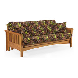 Lifestyle Solutions - Lifestyle Solutions Mt Baker Solid Oak Futon Frame - Include Storage Drawers - Enjoy the classic, timeless look of the 100% Siberian oak futon frames. It features a sturdy solid wood construction throughout the rails, end caps, slats and arms. The sofa height seating operates in sofa reclined and sleep positions. It boasts a beautiful Danish styled natural oak finish. Reliable, durable and functional.