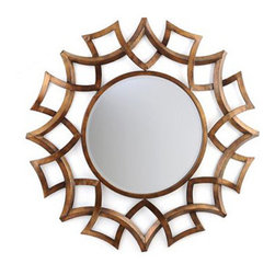 Minogue Mirror - This is a gorgeous geometric take on a sunburst mirror. I love the warm tones of the gold and the openwork that would look spectacular against a beautiful paint color.