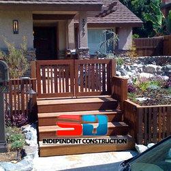 Ipe Double Door - Ipe hardwood gates and fencing