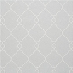 Walls Republic - Lattice Gray Wallpaper - Lattice is a take on the popular trellis pattern with decorative curving linework. It is a great staple in your dining room, living rooms, or hallways. Its simple unadorned nature will allow you to play with other colours and prints while providing the pe