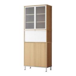 IKEA of Sweden/K Malmvall/E Lilja-Löwenhielm - EFFEKTIV Storage combination with doors - Storage combination with doors, beech veneer, glass