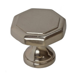 "GlideRite Hardware - GlideRite 1-1/8"" Hexagon Knob Satin Nickel - Add a stylish look to your cabinets with this hexagon satin nickel knob. Each knob is individually packaged to prevent damage to the finish and a standard installation screw is included."