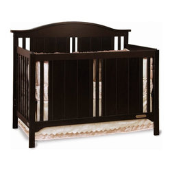 Child Craft - Child Craft Watterson 4-in-1 Convertible Crib - Jamocha - F38711.07 - Shop for Cribs from Hayneedle.com! Influenced by Mission and cottage styles the Child Craft Watterson 4-in-1 Convertible Crib - Jamocha bears an enduring design that's timeless and bold. A contoured headboard is offset with Mission style slats and full-bodied panels. This crib converts to a day bed to a toddler bed with all included parts (toddler bed conversion stretcher rail is included - toddler bed guard rail sold separately). And there's more. It can also convert to a complete full size bed with the addition of full size bed rails (sold separately). Crib is constructed from selected hardwoods with a strong steel mattress support that can be adjusted to two heights. It's finished to perfection using a baby safe non-toxic Jamocha finish.Limited lifetime warranty. About FoundationsFoundations is a brand focused on the absolute safety and well being of all children and their products show it. Though used throughout the world by commercial customers Foundations products extend to use in the home as well.