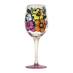 Westland - 9 Inch Flowers with Hearts Wine Glass, 15 oz. - Multicolored - This gorgeous 9 Inch Flowers with Hearts Wine Glass, 15 oz. - Multicolored has the finest details and highest quality you will find anywhere! 9 Inch Flowers with Hearts Wine Glass, 15 oz. - Multicolored is truly remarkable.