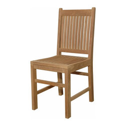 Anderson Outdoor Furniture - Saratoga Dining Chair - There's only one way to improve on a perfect day: Invite a few friends to share it with you. With these beautifully crafted chairs on your deck or patio, not only can you offer your guests a seat, they'll be so comfortable that you'll want to keep the party going well into the night.
