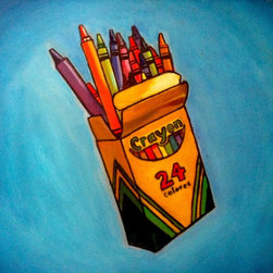 'Crayons' Artwork - Consider it Andy Warhol art for kids. Just substitute the Campbell's soup cans for this box of crayons, and your kids will enjoy the wonders of simple-yet-mesmorizing art.