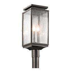 Kichler - Kichler 49388OZ Manningham 3 Light Pier Mount - Kichler 49388 Manningham Outdoor Post Lantern