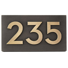 Modern House Numbers by Atlas Signs and Plaques