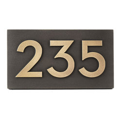 Neutraface Address Plaque 125 X 7 The Derives Its Name From