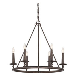 Quoizel - Quoizel VYR5006 Voyager 6 Light 1 Tier Candle Style Chandelier - Features: