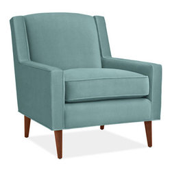 """Cole Chair - Dimensions: 31""""W x 34""""D x 34""""H. Available in a wide range of customizable colors and fabrics."""