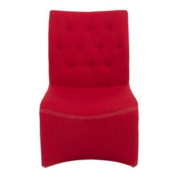 Eurostyle - Eurostyle Ville Lounge Chair in Red - Set of 2 - Ville Lounge Chair. Classic yet modern. A balance that exemplifies the best of both worlds. Soft, druable fabric covers a sturdy steel frame. What's included: Lounge Chair (1).