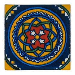 Circle Pattern Talavera Tiles, Box of 15