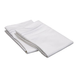 """Egyptian Cotton 800 Thread Count Embroidered Pillowcase Set - King - White/White - Our 800 Thread Count Pillowcase Set offers superior quality and softness for elevated comfort. They are composed of premium, long-staple cotton and have a """"Sateen"""" finish as they are woven to display a lustrous sheen that resembles satin. Each set includes (2) Pillowcases 20""""x40""""."""
