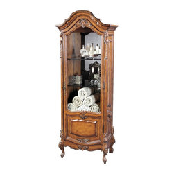 Ambella Home - New Ambella Home China Cabinet Glass Lighted - Product Details