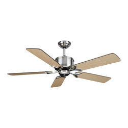 """Cocoweb - Montauk 52"""" Ceiling Fan, Brushed Nickel, 52, Montauk, Without Light - If youre looking for a way to cool down, add style to your room, and save energy; you need not look any further because our ceiling fans are a great way to cover all of your needs. Our ceiling fans were designed to appeal to a variety of styles ranging from modern to traditional. All of our ceiling fans were designed and manufactured with the utmost quality and precision. Accent your decor while featuring our ceiling fans as your new centerpiece."""