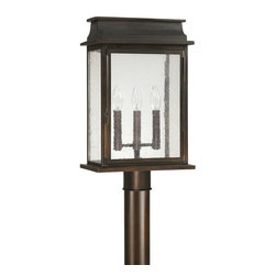Capital Lighting - Capital Lighting 9665OB Bolton 3 Light Outdoor Post Light - Beginning with design concepts from popular home fashions, they transform their ideas into lighting fixtures that blend timeless beauty with today's styling.