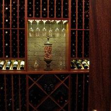 Contemporary Wine Cellar by Linn's Prestige Kitchens & Kay's Prestige Kitchens