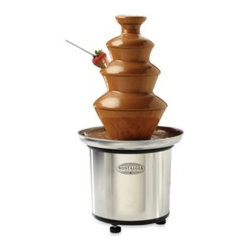 Nostalgia Electrics - Nostalgia Electrics 3-Tier Stainless Chocolate Fondue Fountain - Like a dream come true, this luscious 3-tier chocolate fondue fountain would be a highlight of any party. Delightful and easy to use, just simply pour melted white or dark chocolate into the base and turn it on.
