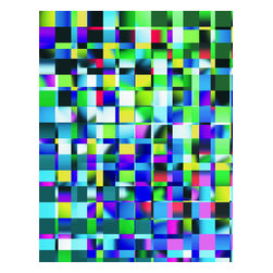 Custom Photo Factory - Mosaic Illustration Texture Canvas Wall Art - Mosaic Illustration Texture  Size: 20 Inches x 30 Inches . Ready to Hang on 1.5 Inch Thick Wooden Frame. 30 Day Money Back Guarantee. Made in America-Los Angeles, CA. High Quality, Archival Museum Grade Canvas. Will last 150 Plus Years Without Fading. High quality canvas art print using archival inks and museum grade canvas. Archival quality canvas print will last over 150 years without fading. Canvas reproduction comes in different sizes. Gallery-wrapped style: the entire print is wrapped around 1.5 inch thick wooden frame. We use the highest quality pine wood available. By purchasing this canvas art photo, you agree it's for personal use only and it's not for republication, re-transmission, reproduction or other use.