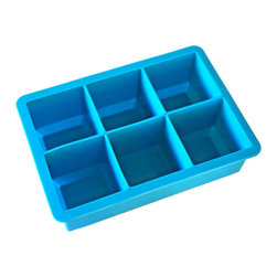 California Kitchenware - California Kitchenware Mammoth Silicone Ice Cube Tray - The California Kitchenware Mammoth silicone ice cube tray creates extra large cubes that cool your drinks faster!  Each extra large cube is easy to remove and the FDA-approved trays are BPA free, dishwasher safe and food safe.