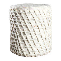 Basket Weave Pouf - Looking for a unique seating option with an air of whimsy? Something that has some personality, but will also work with your existing décor? Here it is. Textured and hand-crafted, it'll pull the room together.