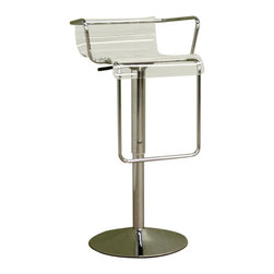 Baxton Studio - Baxton Studio Dessa Chrome Adjustable Barstool - Enhance your contemporary decor with this elegant barstool. Constructed of clear acrylic for the ultra modern look. Swivel chromed steel structure compliments any design with its unique arms and footrest. Adjustable barstool is completed with hydraulic lifting. Its perfect combination of quality craftsmanship and simple, sophisticated designs will instantly enhance your living space.