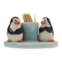 Westland - Penguins Looking at Each other Salt and Pepper Toothpick Holder Set - This gorgeous Penguins Looking at Each other Salt and Pepper Toothpick Holder Set has the finest details and highest quality you will find anywhere! Penguins Looking at Each other Salt and Pepper Toothpick Holder Set is truly remarkable.