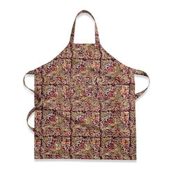 Winter Garden Wreath Apron, Mocha