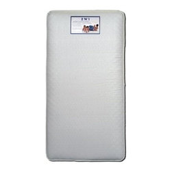 Colgate 2-n-1 Innerspring Crib Mattress - The Colgate 2-n-1 Innerspring Crib Mattress provides the support infants need with the extra comfort that toddlers enjoy. The best innerspring mattresses out there have more layers and high-quality layers, and the Colgate 2-n-1 has both. It features a spring unit with more steel and border rods for firmness and edge support, as well as a quality support pad. Two comfortable and supportive cushioning layers cover each side of the mattress. This innerspring crib mattress fits both cribs and toddler beds. Dimensions: 51.6L x 27.3W x 6H inches.Additional Features: GREENGUARD Children & Schools CertifiedHigh-quality spring unit with 135 thick 13.5-gauge coilsExtra edge support and long-lasting durability from thick 9-gauge steel border rodsNatural and renewable coir fiber support/insulator pad made from coconut shell husks and all-natural latexAbout ColgateColgate is known for producing the highest quality crib mattresses in the country. Having received many industry awards, they're proud to be among the first members of the Juvenile Products Manufacturers Association. Colgate has been manufacturing crib mattresses in Atlanta, Georgia for over 55 years and they're proud to be a US manufacturer located in the heart of the south. Millions of Americans have started their lives sleeping on a Colgate crib mattress.