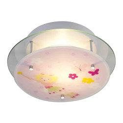 ELK Lighting - ELK Lighting 21008/2 Novelty Pink Semi-Flush Mount - ELK Lighting 21008/2 Novelty Pink Semi-Flush Mount
