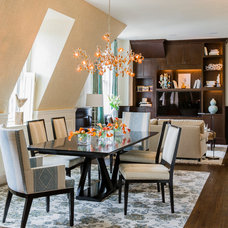 Eclectic Dining Room by Annie Hall Interiors