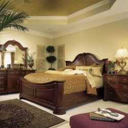American Drew 791-313R-SET Cherry Grove Mansion Bed Set Cherry Grove - Cherry Grove Mansion Bed Set - American Drew Cherry Grove Collection 791-313R-SETManufacturer's Materials:Crafted from cherry veneers & other hardwood veneersselect hardwood solidswood product & simulated wood components