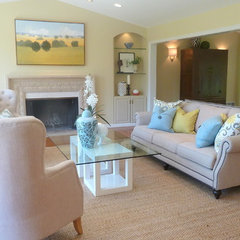 traditional living room by Lisa Benbow - Garnish Designs