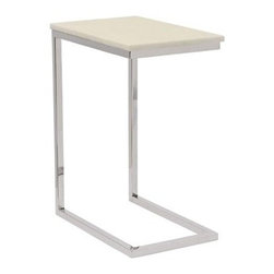 Bernhardt  | Marston Ivory Marble Pull-Up Table - Ivory White marble top