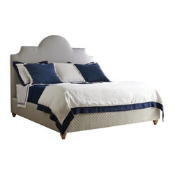 Stanley Furniture - Coastal Living Retreat-Breach Inlet Bed-California King - Soft curves with soft fabrics. An upholstered bed welcomes retreat.