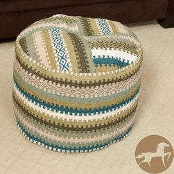 Christopher Knight Home - Christopher Knight Home Adan Wool Patch Pouf Ottoman - The geometric pattern of the Adan delivers a classic look in a unique, new shape. Plus, the versatile design works as a pillow, seat or ottoman for modern fashion.