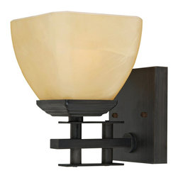 Yosemite Home Decor - Yosemite Home Decor 95571VB Half Dome Wall Sconce Light - Venetian Bronze Frame - The Half Dome Collection of Sconces, by Yosemite Home Decor, embodies the aesthetic preferences of contemporary artistry with a touch of sophistication. This model's Venetian Bronze Frame with Parchment Frost Glass blends in very well with contemporary cosmopolitan architectural design, while its medium-based, 100-watt incandescent light will provide warm illumination, and a welcoming glow, to your hall and corridor. UL-approved, you can rest assured this model is safe for use in your home. With its one-year warranty, we have this product covered during the first year.