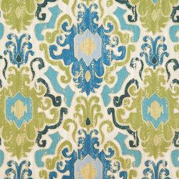 Toroli Aqua Fabric - Pattern: Toroli