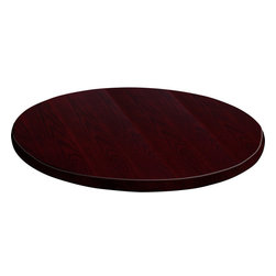 Flash Furniture - Flash Furniture 36 Inch Round Mahogany Veneer Table Top - GM-MAH-VEN-36RD-GG - Complete your restaurant, break room or cafeteria with this durable and attractive table top. The top is comprised of a Medium-Density fiberboard core which makes it much denser and stronger than a typical plywood core. This table top is Designed for commercial use so you will be assured it will withstand the daily rigors in the hospitality industry. [GM-MAH-VEN-36RD-GG]