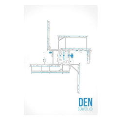 08 Left - 008 Left DEN - Denver Metal Print - As good as it gets. Ready to hang. Absolutely stunning and tough as rocks.